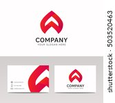abstract strip shape company... | Shutterstock .eps vector #503520463