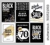 set of mobile sale banners.... | Shutterstock .eps vector #503521003