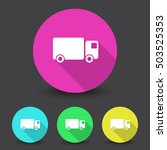 white delivery truck icon in...   Shutterstock .eps vector #503525353