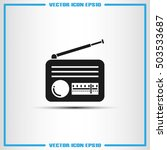 retro radio icon vector... | Shutterstock .eps vector #503533687