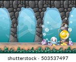 cartoon vector underwater... | Shutterstock .eps vector #503537497