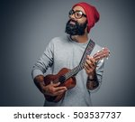 portrait of a bearded hipster... | Shutterstock . vector #503537737