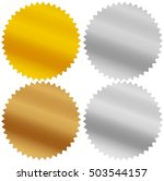 gold  silver  bronze and... | Shutterstock . vector #503544157