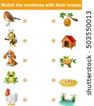 matching game for children ... | Shutterstock .eps vector #503550013
