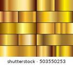 vector set of gold gradients...   Shutterstock .eps vector #503550253