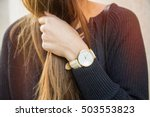 fall outfit fashion details ... | Shutterstock . vector #503553823