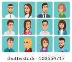 men and women business and... | Shutterstock .eps vector #503554717