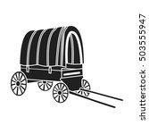cowboy wagon icon in black... | Shutterstock .eps vector #503555947