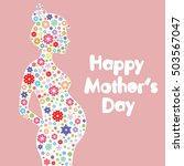 Happy Mother's Day. Vector Card