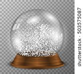 crystal snow globe on wooden... | Shutterstock .eps vector #503575087