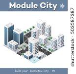 isometric module of the modern... | Shutterstock .eps vector #503587387
