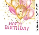 balloons happy birthday on... | Shutterstock .eps vector #503593537