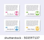 personal profile business... | Shutterstock .eps vector #503597137