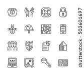 vector set of security and... | Shutterstock .eps vector #503601697