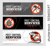 pest control service horizontal ... | Shutterstock .eps vector #503603197