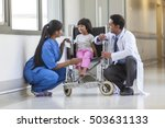 young female child patient in... | Shutterstock . vector #503631133