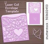wedding invitation or greeting...   Shutterstock .eps vector #503632453