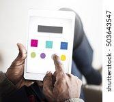 analyze chart information...   Shutterstock . vector #503643547