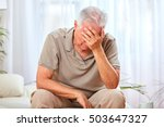 depressed old man. | Shutterstock . vector #503647327