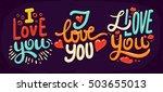 lettering made for postcard ... | Shutterstock .eps vector #503655013