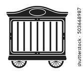 circus wagon icon in black... | Shutterstock .eps vector #503668987