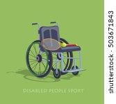 wheelchair sport. tennis in a... | Shutterstock .eps vector #503671843