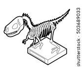 dinosaur skeleton icon in... | Shutterstock . vector #503689033