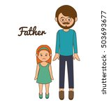father family memeber avatar | Shutterstock .eps vector #503693677