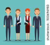 business people avatars group | Shutterstock .eps vector #503696983