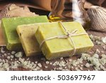 collection of handmade  natural ... | Shutterstock . vector #503697967