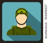 military paratrooper icon in... | Shutterstock . vector #503698327