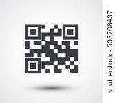 qr code icon | Shutterstock .eps vector #503708437