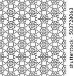 seamless geometric line pattern ... | Shutterstock .eps vector #503728063