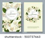 vector jasmine flowers banner.... | Shutterstock .eps vector #503737663