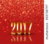 happy new year design layout on ... | Shutterstock .eps vector #503738797