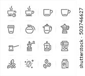 coffee icons with white... | Shutterstock .eps vector #503746627