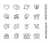 valentine's day icons with... | Shutterstock .eps vector #503747653