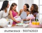 group of diverse friends women... | Shutterstock . vector #503762023