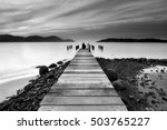 beautiful seascape view with... | Shutterstock . vector #503765227
