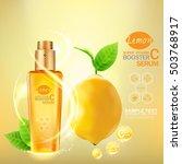 serum lemons extract vitamin... | Shutterstock .eps vector #503768917