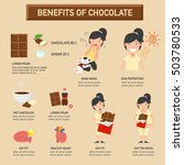 benefits of chocolate... | Shutterstock .eps vector #503780533