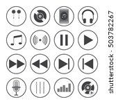music icons with white... | Shutterstock .eps vector #503782267