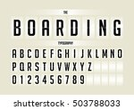 vector of stylized flip board... | Shutterstock .eps vector #503788033