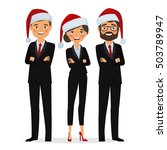 businessman and businesswoman... | Shutterstock .eps vector #503789947