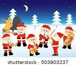the christmas concert of santa...   Shutterstock .eps vector #503803237