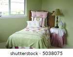 a colorful young girls bedroom. | Shutterstock . vector #5038075