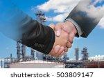 double exposure of businessman... | Shutterstock . vector #503809147