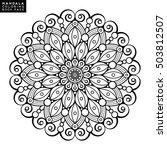 flower mandala. vintage... | Shutterstock .eps vector #503812507