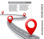road map vector with street... | Shutterstock .eps vector #503823823