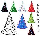 Christmas Tree.   Elements Fo...